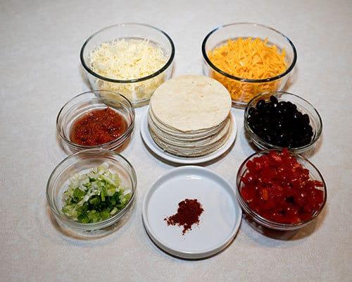 Ingredients for Mini Antojitos