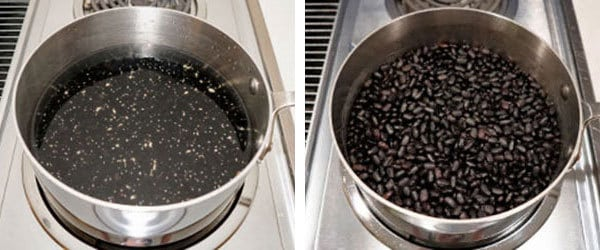 Soaking the beans