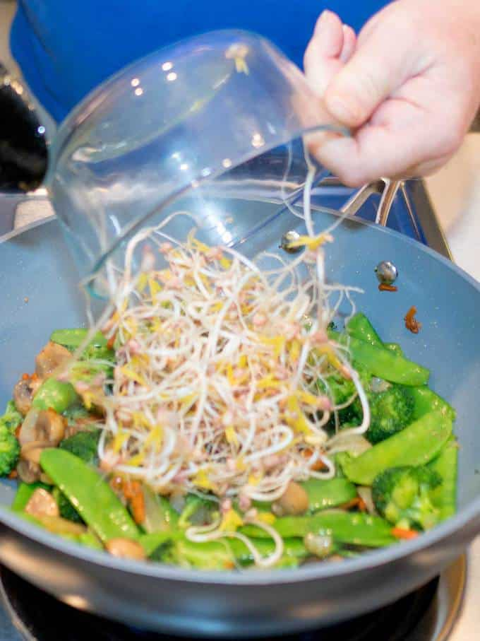 Adding Bean Sprouts