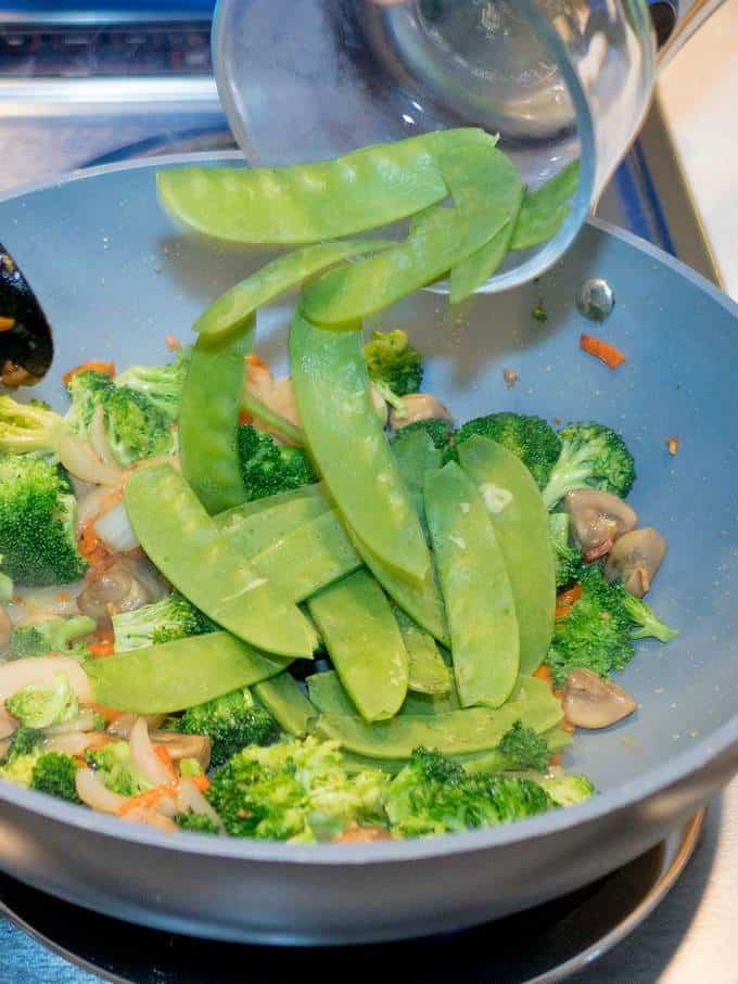 Adding Snow Peas