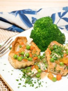 Chicken Pot Pie in Puff Pastry Shells