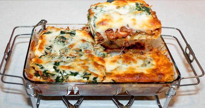 spinach and mushroom lasagna  pudge factor