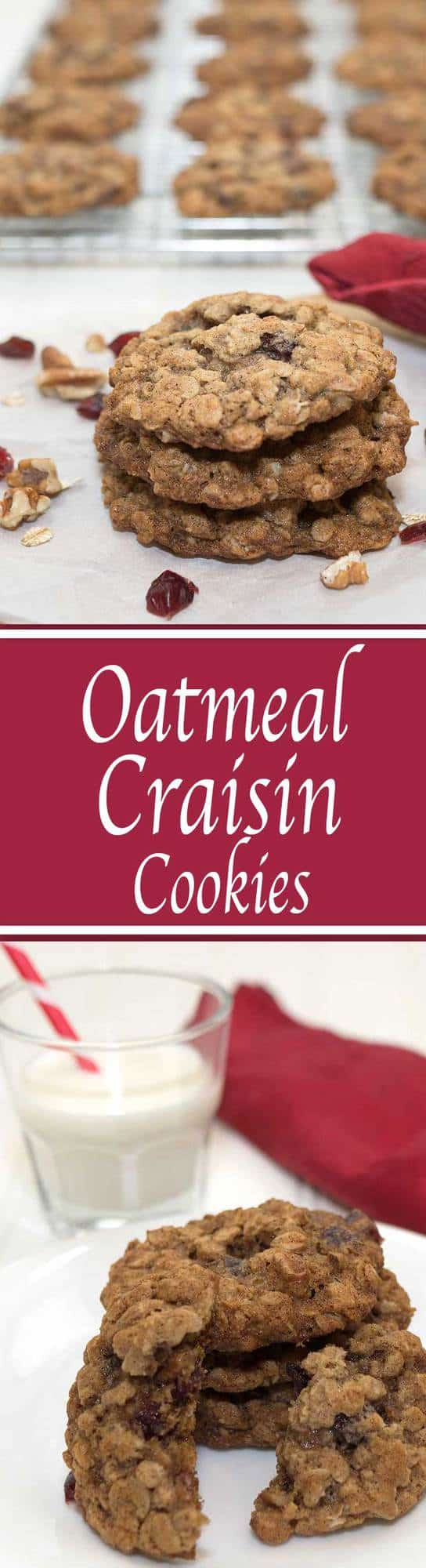 These Oatmeal Craisin Cookies are a delicious twist on an old favorite. They're chocked full of Craisins and toasted pecans, not to mention the healthy oats.