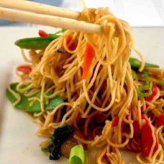 Quick and easy to prepare, and full of healthy vegetables, this Lo Mein takes less than 15 minutes to cook, and makes incredible leftovers.