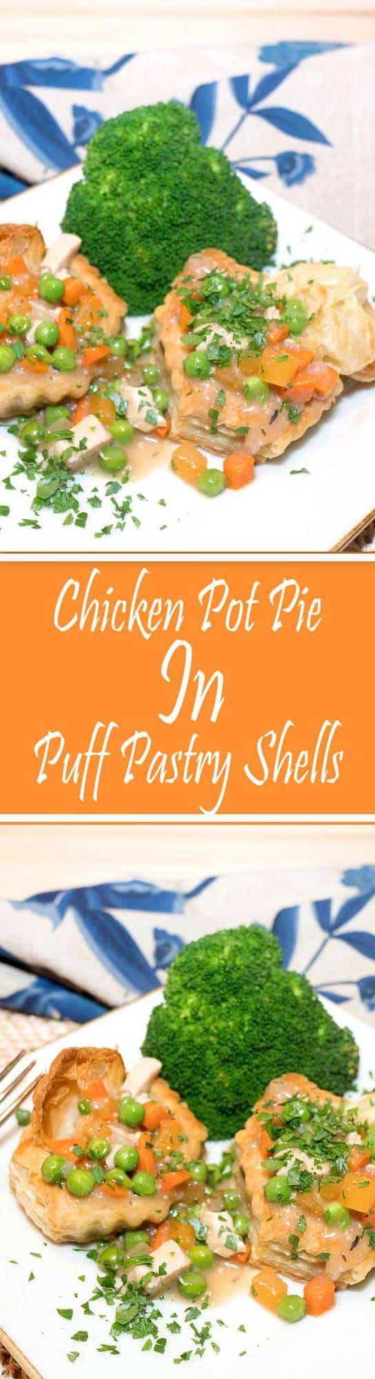 Chicken Pot Pie In Puff Pastry Shells Pudge Factor