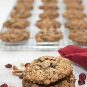 A delicious twist on an old favorite. Full of healthy oats, Craisins, and toasted pecans.