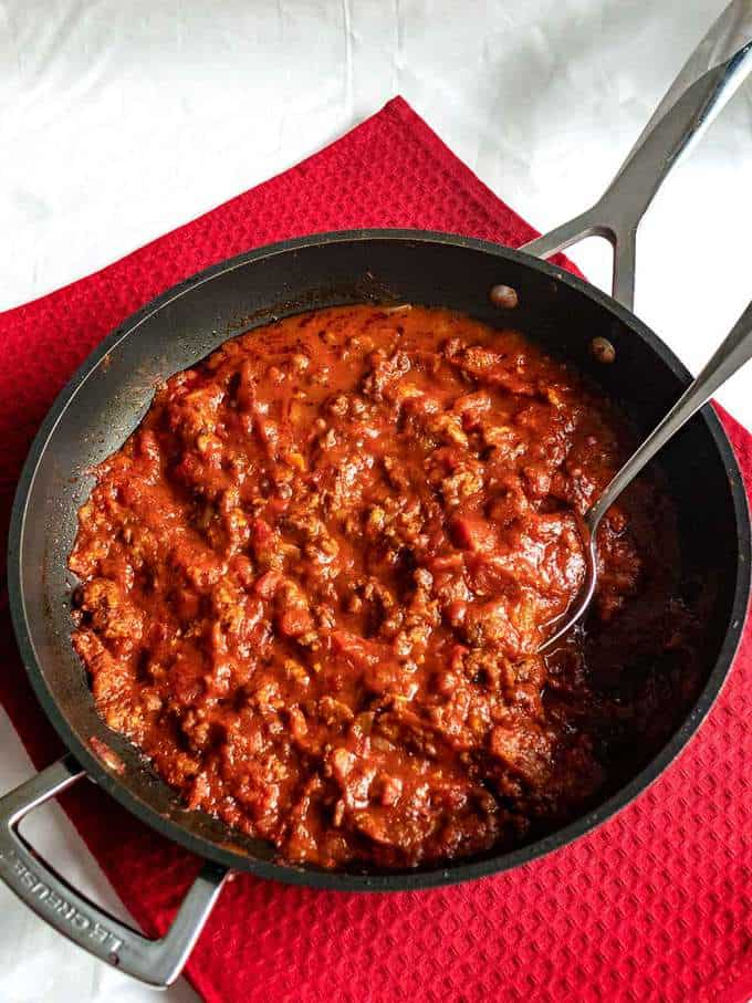 Bolognese Sauce in Pan