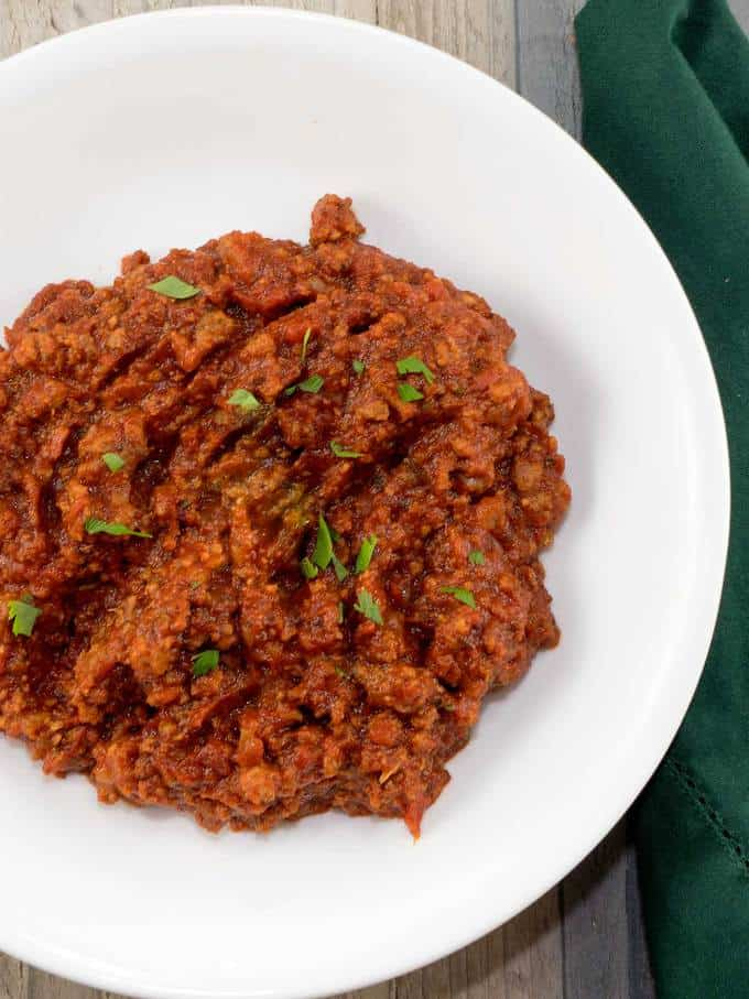 Bolognese Sauce is a rich and meaty sauce that is slowly simmered for several hours to intensify its flavor.