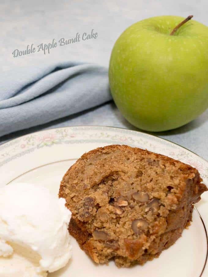 Double Apple Bundt Cake