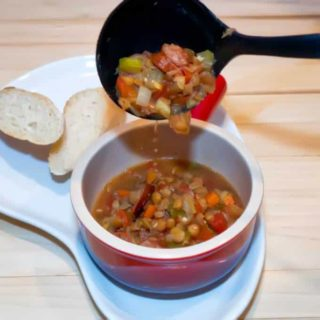 Lentil and Sausage Soup is both hearty and delicious. This one pot meal is a snap to make, freezes beautifully, and is packed full of vegetables and protein.