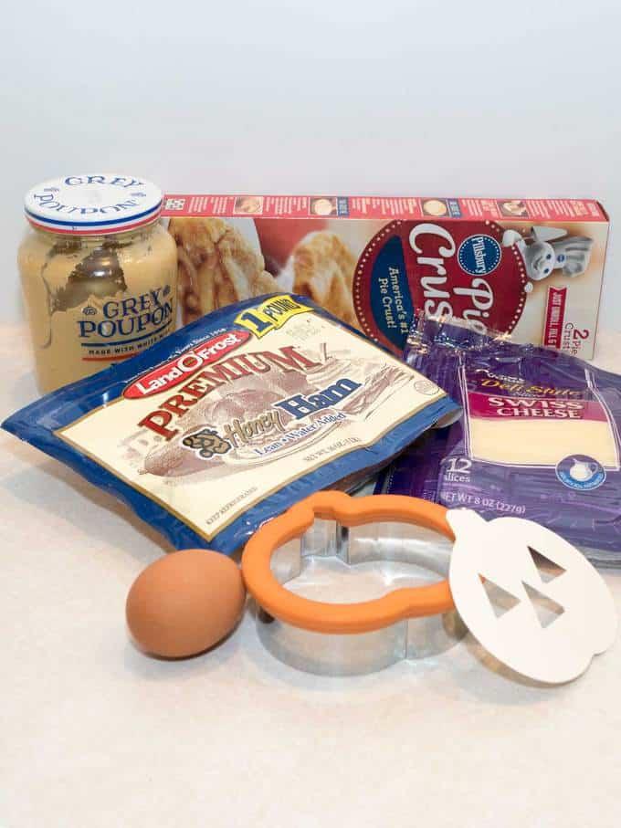 ingredients for jack o'lantern hand pies