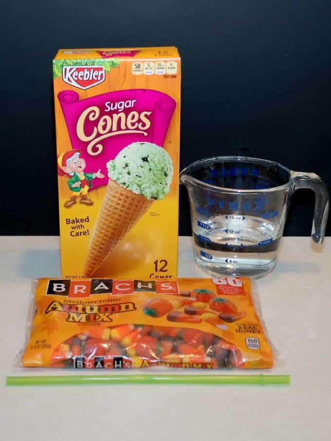 ingredients for cornucopia halloween treats