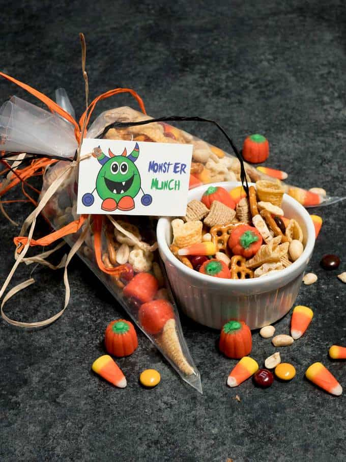 Monster Munch - Perfect for an afternoon snack, Halloween Party, or Trick or Treat surprise for neighborhood kids.