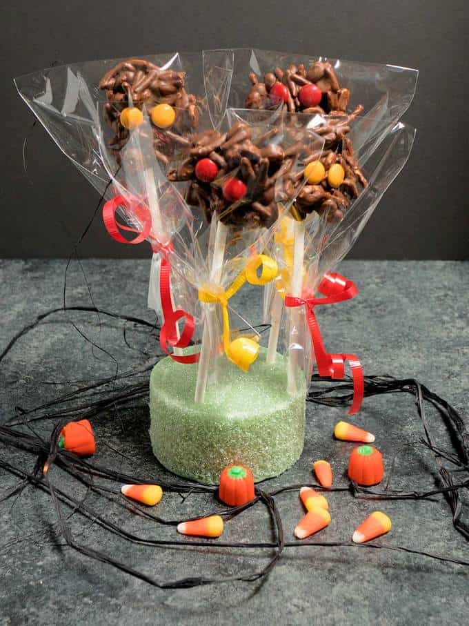 Quick and easy to make, these Spooky Spider Pops are perfect for your next Halloween Party!