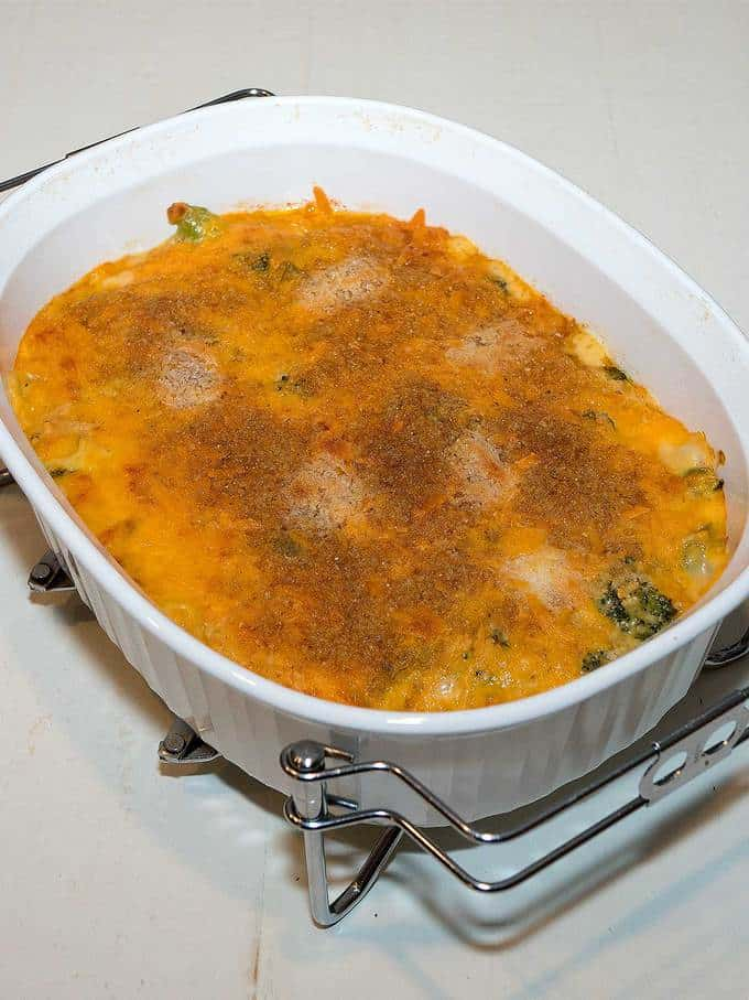 Creamy Broccoli and Rice Casserole - a delicious make ahead side dish for your Thanksgiving feast.