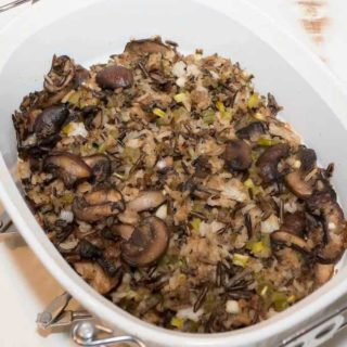 Mushroom Wild Rice Dressing: A delicious alternative to bread based dressing.
