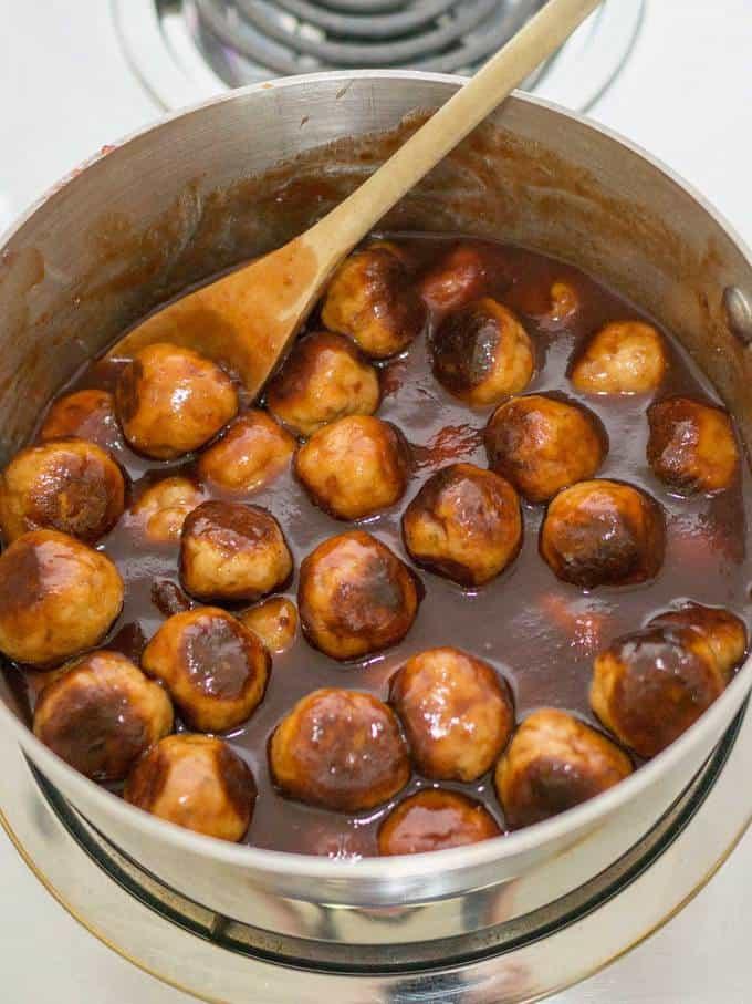 Holiday Glazed Turkey Meatballs