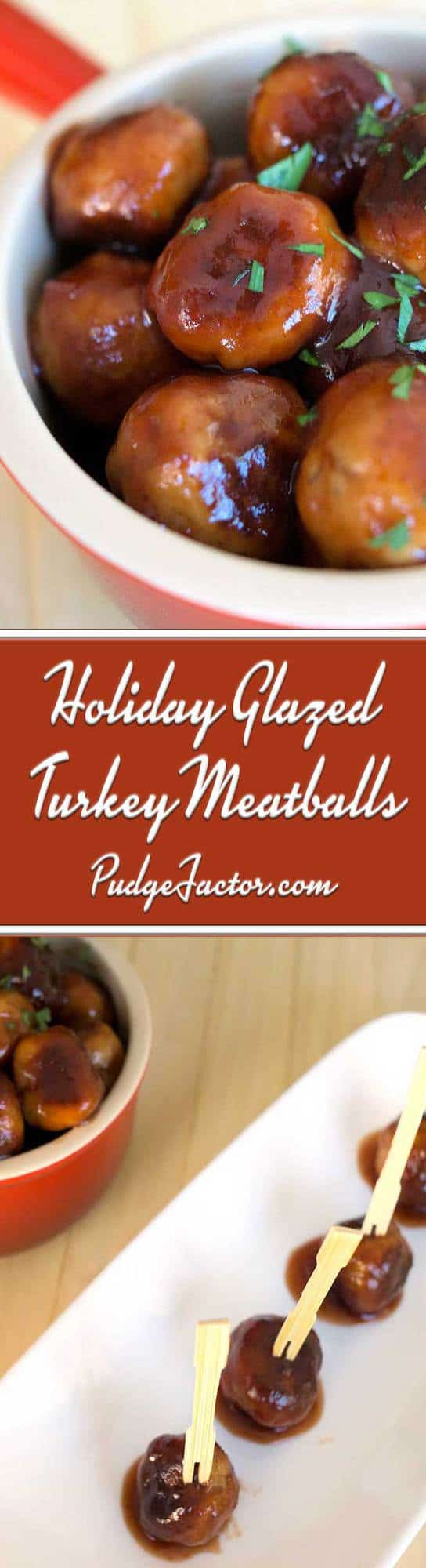 Holiday Glazed Turkey Meatballs - tender and flavorful and a sweet savory sauce. They are sure to be a winner at your next holiday gathering.