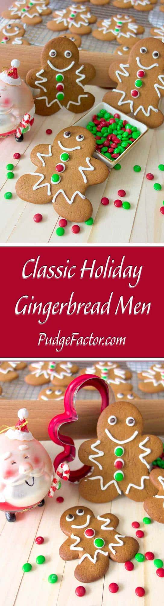 Classic Holiday Gingerbread Men - soft and chewy on the inside with just the right amount of crunch on the outside! Packaged in clear treat bags, they make wonderful Christmas gifts for kids of all ages.
