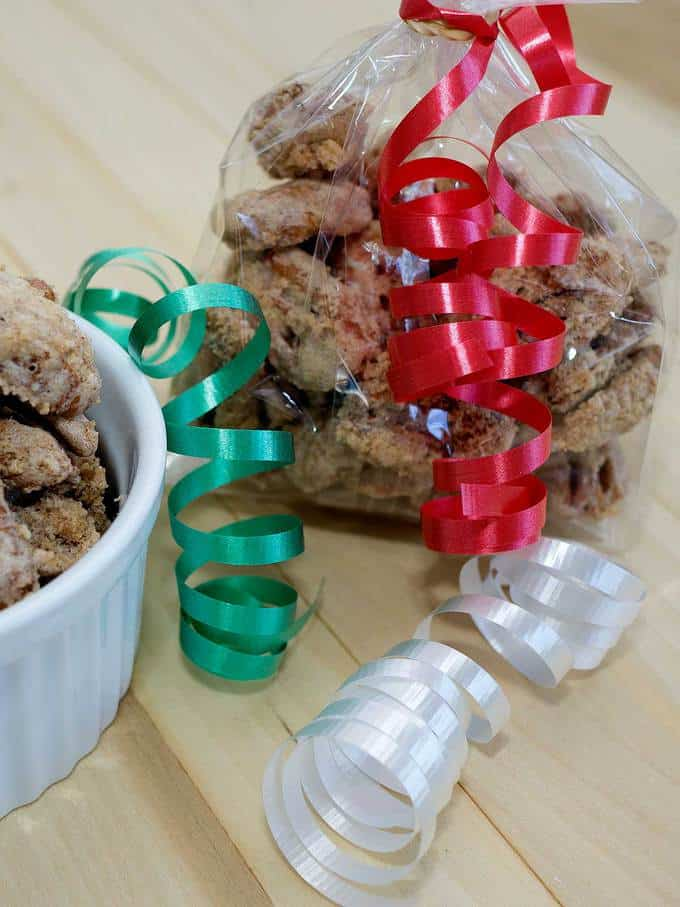 Southern candied pecans