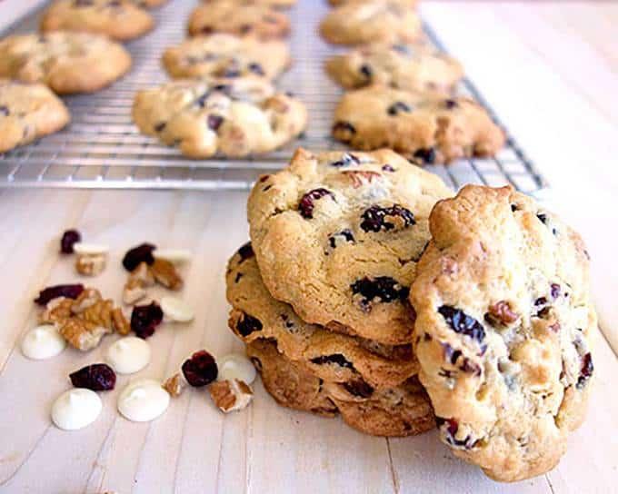 White Chocolate Craisin Cookies