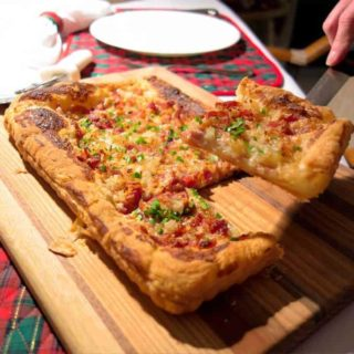 Tarte Flambée is to northern Alsace what pizza is to southern Italy.
