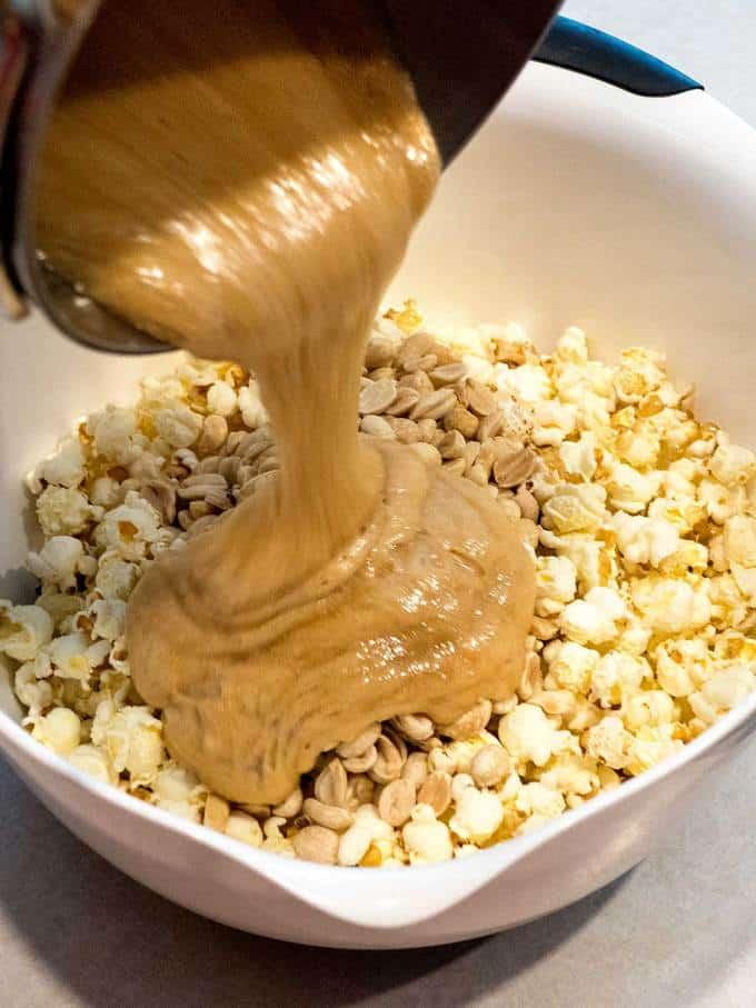 Old-Fashioned Caramel Corn PudgeFactor.com