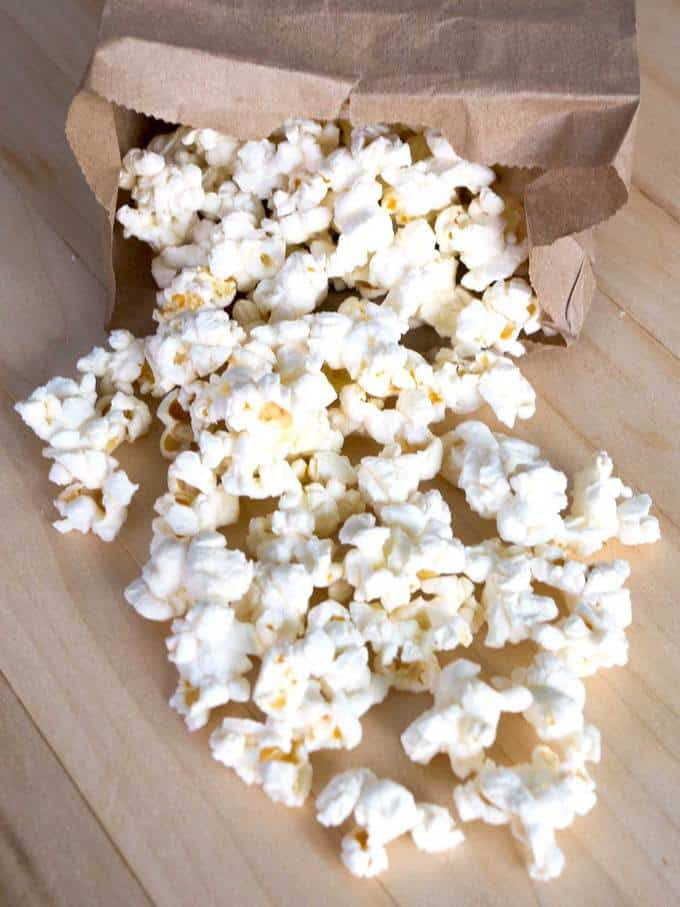 Skinny Microwave Popcorn in Paper Bag