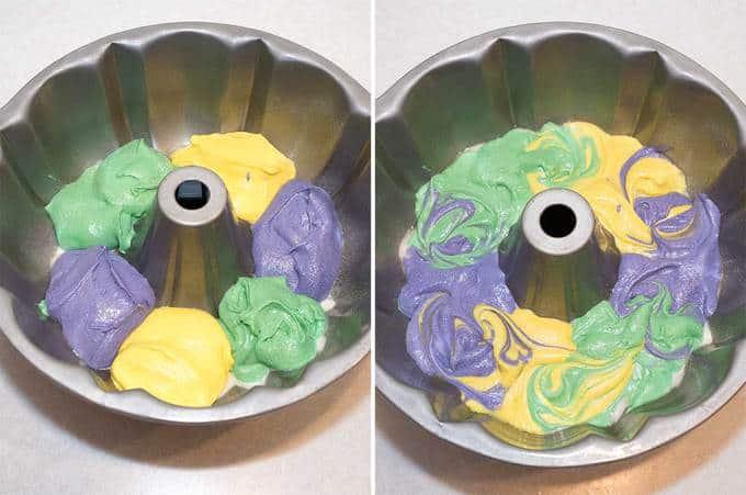 Mardi Gras Lemon Bliss Bundt Cake