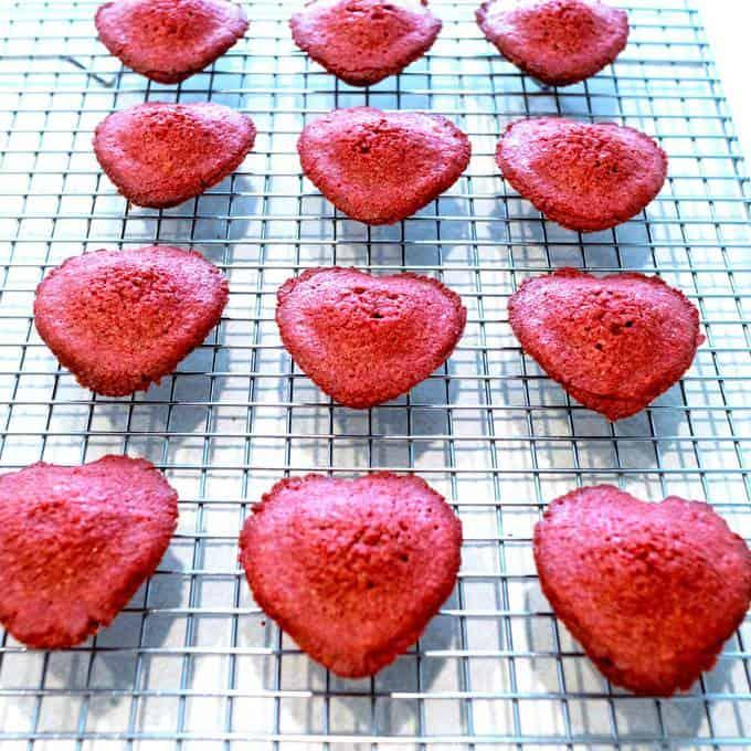 Red Velvet Madeleines for Valentine's Day