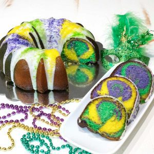 Mardi Gras Lemon Bliss Bundt Cake