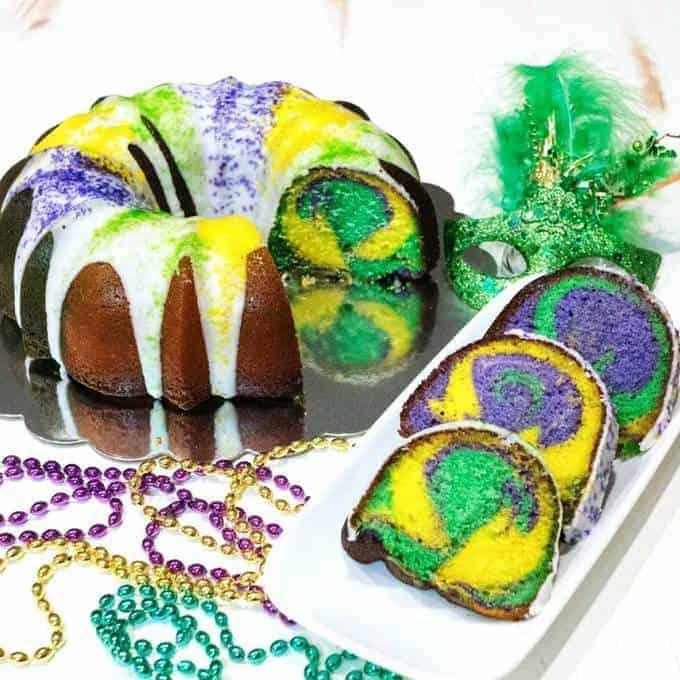 Lemon Bliss Mardi Gras Cake