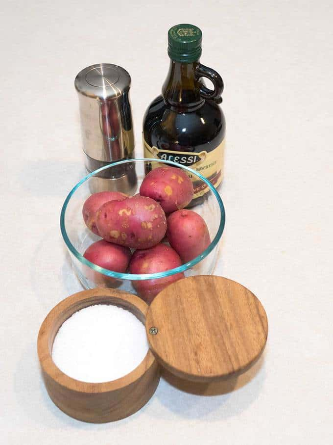 Ingredients for Easy Stove Top Roasted Potatoes