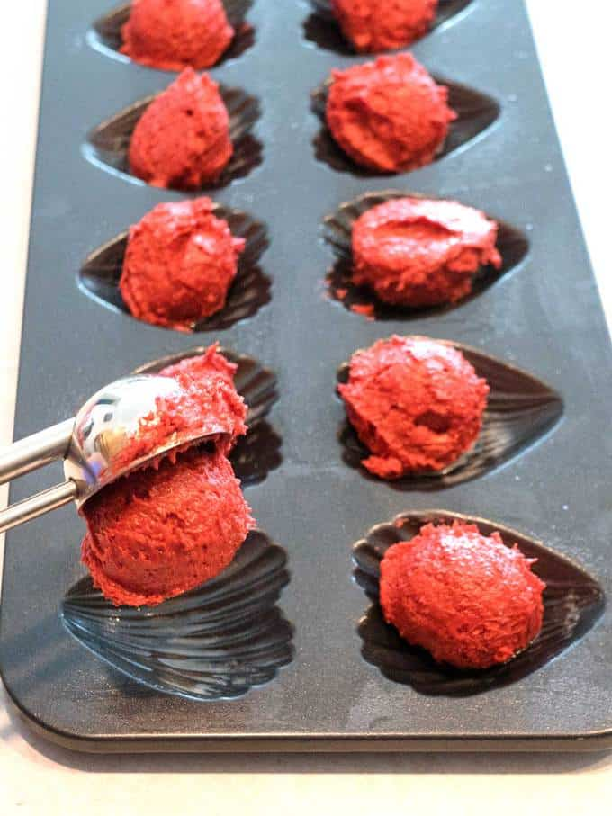 Red Velvet Madeleines for Valentine's Dau