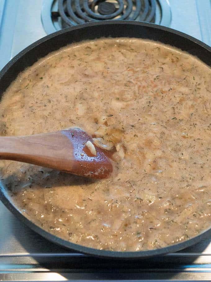 Stirring mixture