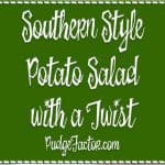 We do a lot of things right in the South, especially when it comes to Potato Salad! This Southern Style Potato Salad is perfect for Easter or anytime.