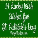 St. Patrick's Day is just around the corner. I teamed up with Grits and Pinecones to bring you 14 Lucky Irish Dishes certain to put a jig in your step.