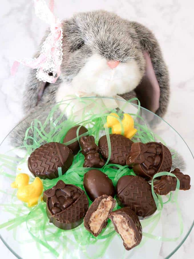 Chocolate Covered Peanut Butter Easter Treats