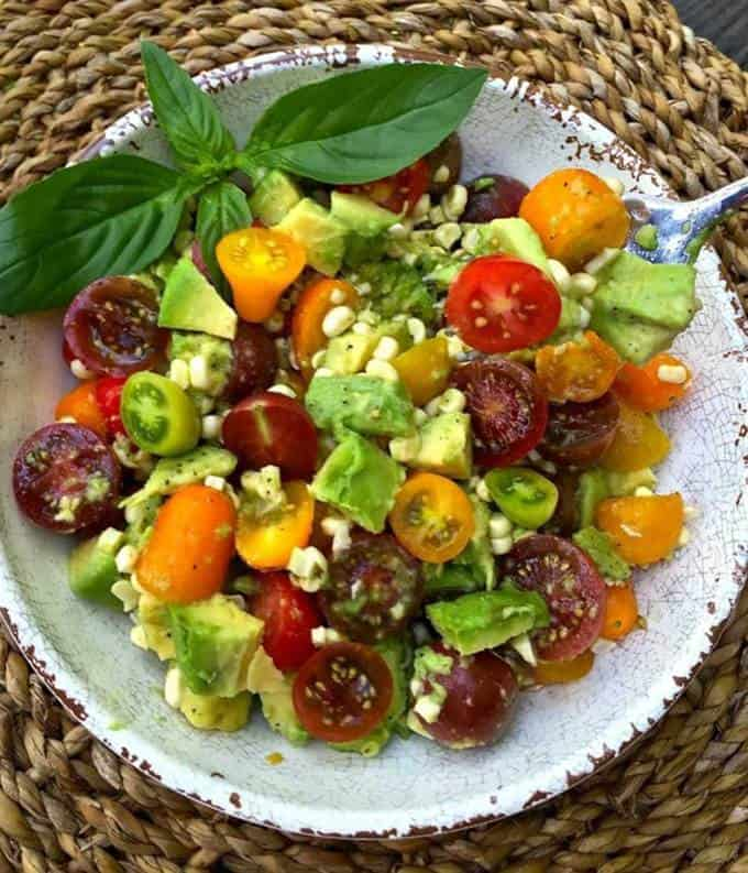 Corn Tomato and Avocado Salad