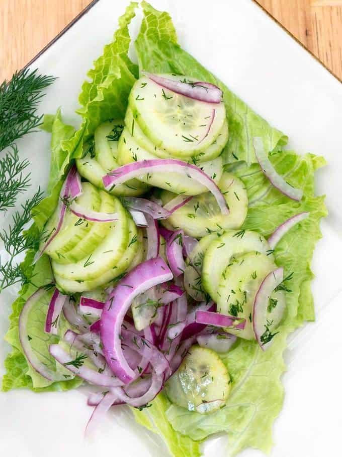 Cucumber Dill Salad Gurkensalat