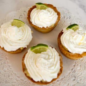 Mexican Key Lime Tartlets with Cream Cheese Pastry
