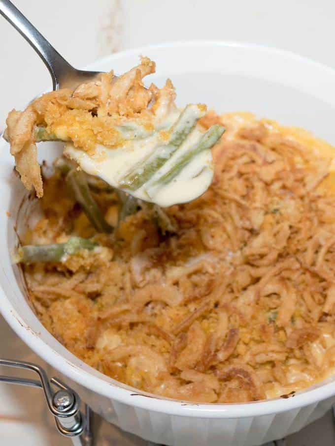 Grown-up Green Bean Casserole