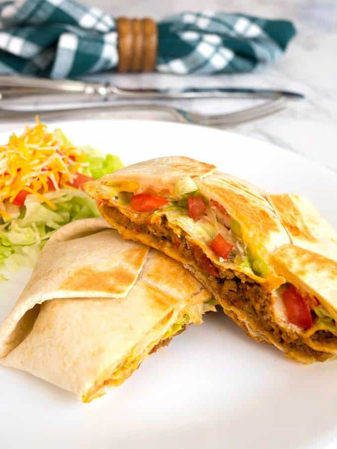 Tasty 7 Layer Quesadilla Wrap