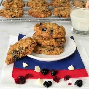 Red  White and Blue Oatmeal Cookies
