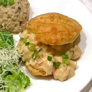 Elegant Shrimp Newburg in Puff Pastry Shells