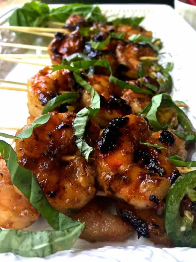 Grilled Spicy Coconut Shrimp