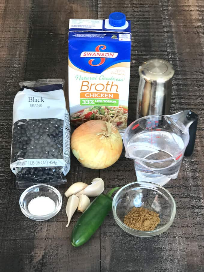 Ingredients for smashed black beans