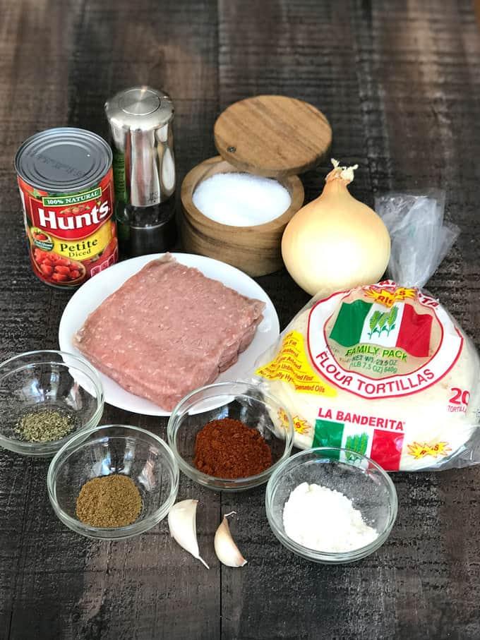 Ingredients for the met sauce
