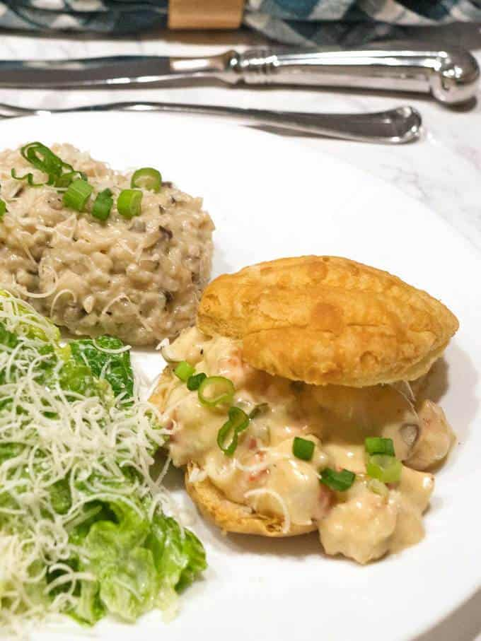 Easy and elegant shrimp newburg