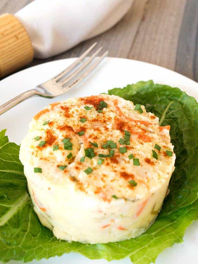 Southern style potato salad with a twist.